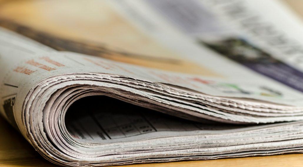 Ik sloeg de krant open en werd even heel stil