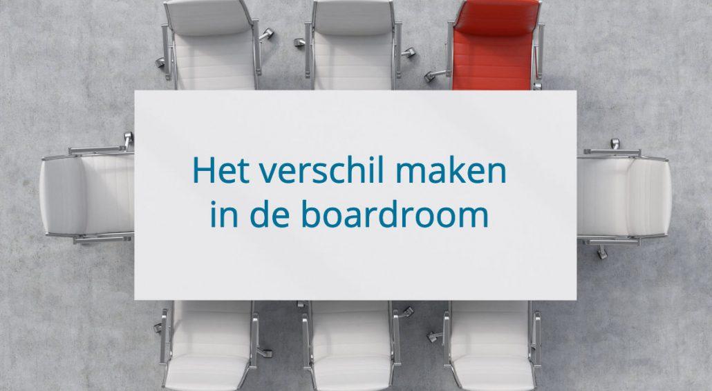 verschil maken in de boardroom